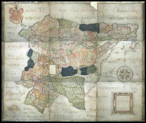 Laxton Plat Map UK 1635
