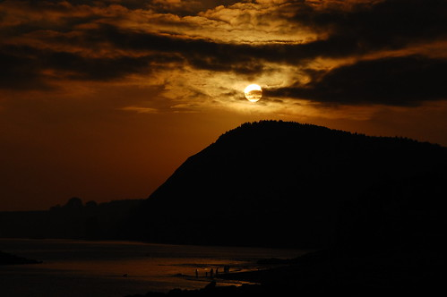 Sunset at Sidmouth - Dark