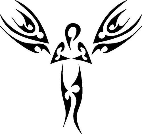 tribal angel tattoo tribal