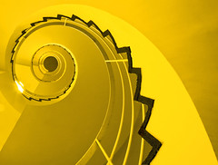 Spiral Stairs in Yellow (wentloog) Tags: abstract yellow wales architecture canon eos interestingness gallery explore 5d cardiffbay wfc blueribbonwinner canoneos5d ef24105f4l wentloog platinumphoto welshflickrcymru stevegarrington goldstaraward world100f thegalleryoffinephotography