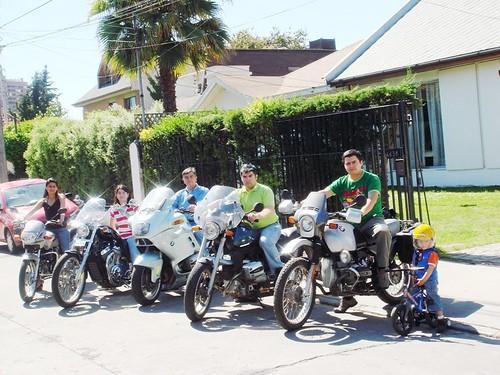 família nas motos