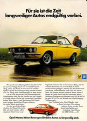 Opel Manta SR (1973) (jens.lilienthal) Tags: classic vintage advertising gm reclame ad advertisement advert werbung sr publicité 1973 manta reklame opel anzeige réclame werbeanzeige rallyeracing amzeige zeitungsreklame