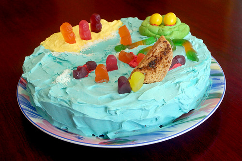 sea disaster cake
