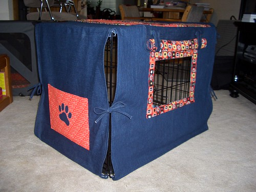 Dog crate back