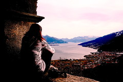 Looking at.. (Roveclimb) Tags: panorama lake como church landscape lombardia lagodicomo eusebio gravedona aplusphoto peglio