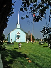 The Blue Church (Light Collector) Tags: ontario canada augusta methodism prescott founder thebluechurch barbaraheck