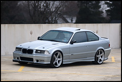 Silver BMW E36 M3 (Andrew Ball) Tags: bmw m3 modded e36