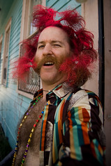 _SSC7758 (dogseat) Tags: pink red selfportrait me hair beard neworleans whiskers sp freak weirdo nola chops dye mardigras hairspray burners dogseat fattuesday muttonchops basettoni sidewhiskers dundrearies supertuesday flickr:user=dogseat
