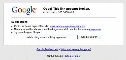 Google Toolbar 404 Hijacking