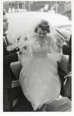 aunt nita's wedding (sparkleneely) Tags: family wedding chicago tiara vintage mom bride dad 1950s