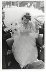 aunt nita's wedding (sparkleneely) Tags: family wedding chicago tiara vintage mom bride dad 1950s