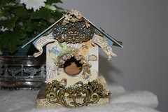 Edwardian Storybook Birdie Cottage in the Country (Cabinet of Old Secret Loves) Tags: vintage poetry birdhouse books danny seo