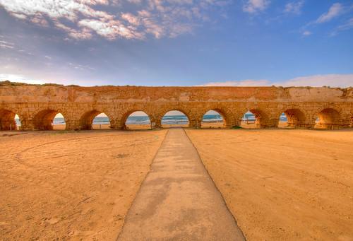 Caesarea Aqueduct in HDR