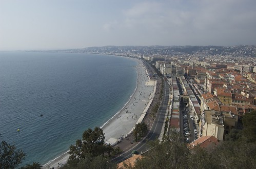 Beach and Old Town of Nice