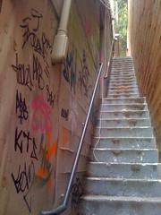 Tagged Stairwell (PunkRockBeezy) Tags: seattle graffiti alley tag hey stairwell esb kts kaz toons smw prb soundone