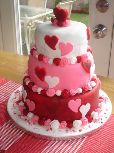 Valentine Bridal Shower Cake