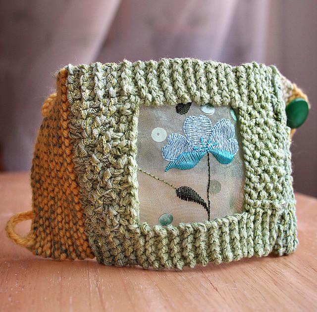 Spring Meadow Knit Wrist Cuff