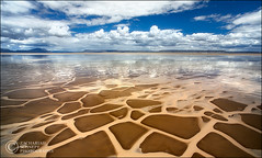 Giraffe Tiles (Zack Schnepf) Tags: blue lake reflection clouds oregon landscape photo pattern desert surreal playa tiles clay giraffe zack alvorddesert alvord naturesfinest schnepf 1000v40f impressedbeauty aplusphoto platinumheartaward