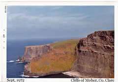 Cliffs of Moher (ColleenM) Tags: old ireland clare all group cliffs 1972 001 moher kodacolor countyclare kodakpony135 postcardireland csmlabel