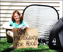 114/365 (Photos By Jes) Tags: selfportrait me outside naturallight stealing copyrightlaw cardboardsign photographyisnotacrime 365days 366days2008 willphotographforfood scanningisstealing explore42308