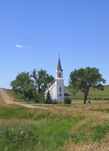 Lutheran Church-Sims, North Dakota by j_piepkorn65.