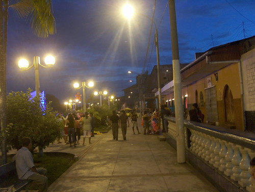 Downtown Iquitos at night