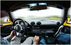lotus elise - blurrrryyy (verbalink) Tags: motion blur yellow automobile driving lotus elise interior tokina converse