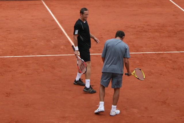 Jonas Bjorkman and Mats Wilander