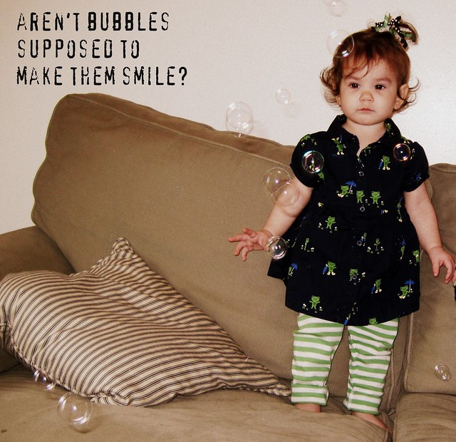 No smiles for bubbles