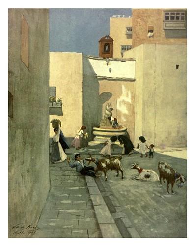 016-Una fuente en un barrrio popular de la Valletta-Malta 1910- Vittoria Boron