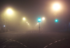 Where do I go from here? (Tomitheos) Tags: road street autumn urban mist toronto ontario canada green fog trafficlight vanishingpoint haze october flickr traffic farm oneofakind surrealism daily brewster now today shiningstar mystique globalwarming dena 2007 aclass engineeringasart stockphotography streetwalker dreamorreality lucidandmysterious centralperspective lucidmysterious creativephoto theworldthroughmyeyes dissymmetry  theothervillage tomitheos heartawards viplanet griffinpoetryprize collectivedreamjournal wonderfulworldmix wecanteach quantumunconsciousness commentontheseasonathand poemspoetrylyrics photographwithapoem songstopics