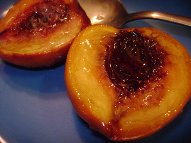 baked peaches with ginger