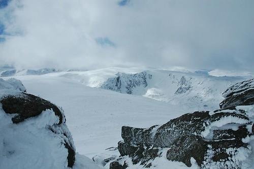 Beinn a' Bhuird from Ben Avon summit tor