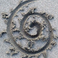 sandy spiral (kliffklegg) Tags: ocean ireland sea irish texture galway beach strand sand sandy eire connemara shore tides beachcombing tidalpatterns kliffklegg