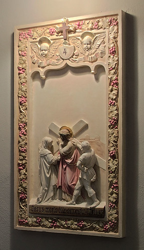 Saint Elizabeth, Mother of John the Baptist Roman Catholic Church in Saint Louis, Missouri, USA - station of the cross