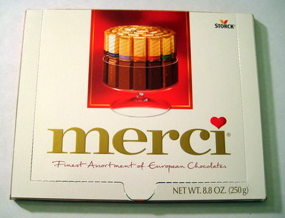 Merci Chocolate - outside box