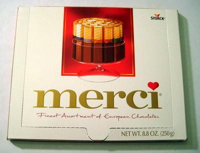 Merci Chocolate - outside box