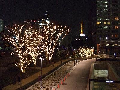 Tokyo Midtown Christmas Illumination 2007 & Tokyo Tower