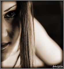 ..::Another time,please::.. (sepia) (BaroneLowar) Tags: light colour sexy 20d girl sepia canon hair nose eos eyes colore young makeup lips occhi sguardo shoulder luce eos20d ragazza naso capelli seppia intenso trucco labbra spalla provocante intrigante baronelowar