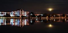 Moonrise (OldOnliner) Tags: wisconsin lagoon fullmoon moonrise beloit rockriver abcsupply visitbeloitset