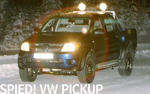 VW Pickup Spy shot