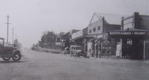 Booth's Garage WWII Mann Street Gosford