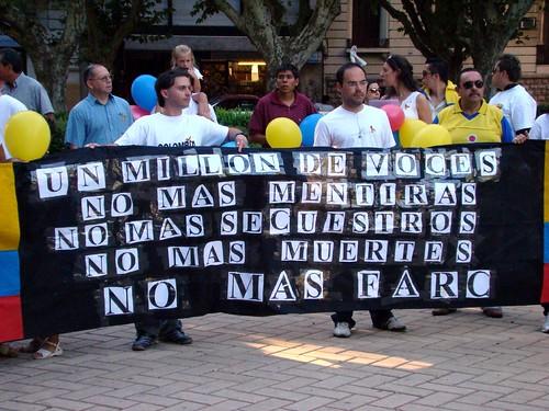 No Mas Farc marcha colombia