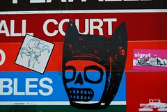 Denny Park (dddddderek) Tags: seattle urban sign graffiti washington stickers decal dennypark