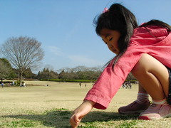 昭和の森公園にあらわれた巨人姫