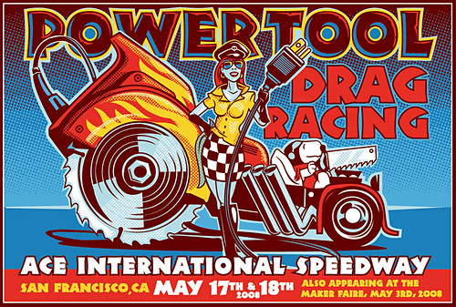 Power Tool Drag Racing flyer - color