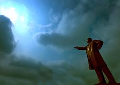 Kim Il Sung giant statue North Korea  (Eric Lafforgue) Tags: pictures travel del clouds soldier army photo asia republic propaganda military picture korea il explore kimjongil korean socialist asie coree militaire soldat norte northkorea armee nk statute ideology axisofevil pyongyang dictatorship  eastasia sung  corea dprk  stalinist juche 4554 kimilsung northkorean lafforgue kimjungil  mansudae democraticpeoplesrepublicofkorea  ericlafforgue  koreanpeninsula mansu  coreadelnord   coreedusud dpkr northcorea juchesocialistrepublic eastasiaasie coreedunord rdpc koreankim jongilkim peninsulajuche  stalinistdictatorship jucheideology insidenorthkorea kilimsung   demokratischevolksrepublik