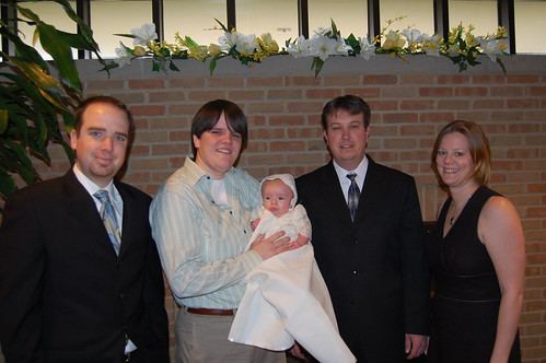 Christening - Jack and his parents