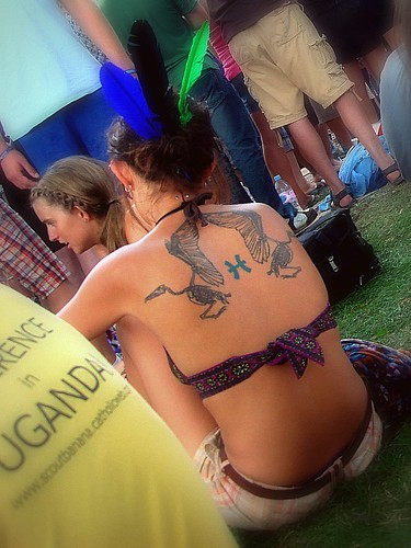 Interesting tattoo Music festivals