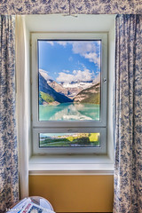 What A View (Samantha Decker) Tags: ab alberta banffnationalpark canada canadianrockies canonef1635mmf28liiusm canoneos6d fairmontchateaulakelouise lakelouise parkscanada rockymountains samanthadecker uwa wideangle